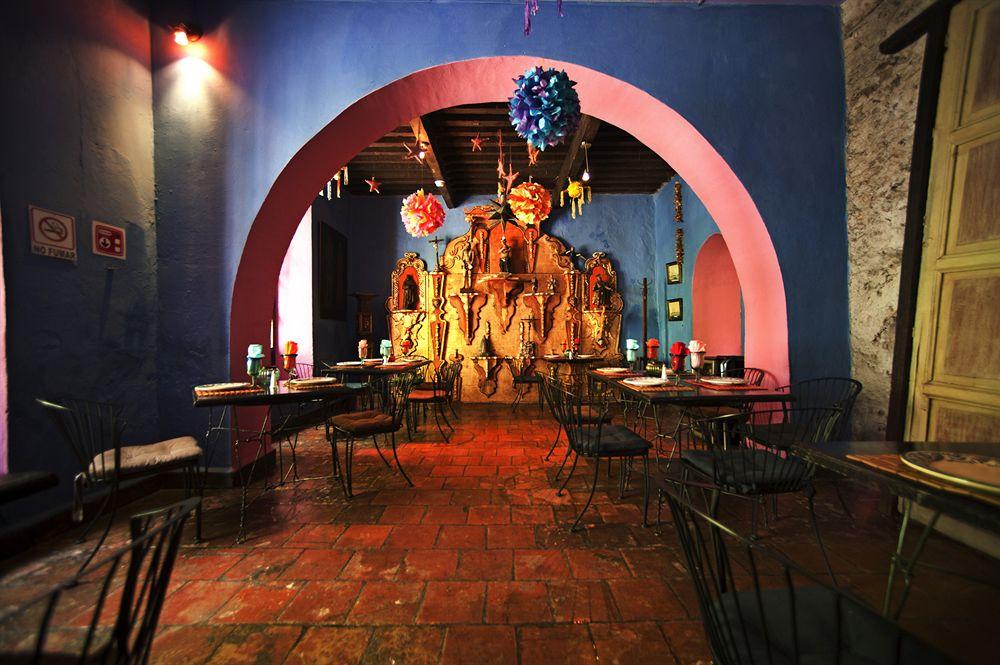 Meson Sacristia de la Compania, бутик отель мексика, бутик отель пуэбла, необычный отель мексика